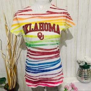 QU Oklahoma University Football Tee Size Medium